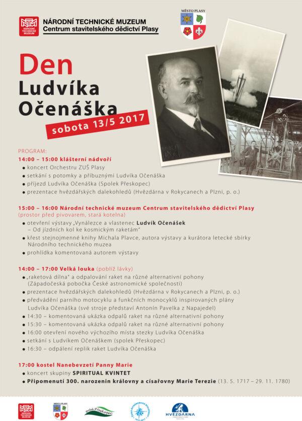 Program Dne Ludvíka Očenáška v Plasech u Plzně.