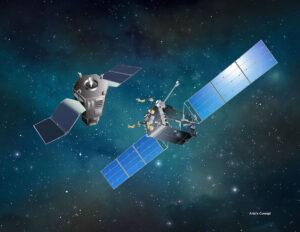 Vizualizace projektu RSGS (Robotic Servicing of Geosynchronous Satellites)