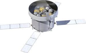 Vizualizace evropského servisního modulu pro americkou loď Orion.
