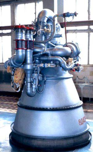 Motor RD-0211 z druhého stupně rakety Proton