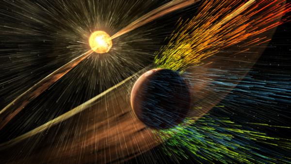 Interakce slunečního větru s marsovskou atmosférou