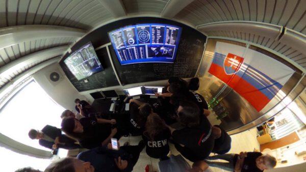 Řídicí středisko slovenské družice SkCUBE