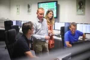 Řídící středisko mise LISA Pathfinder v německém Darmstadtu.