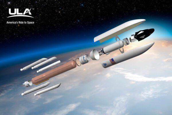 Vizualizace Atlasu V při vynášení miniraketoplánu Dream Chaser.