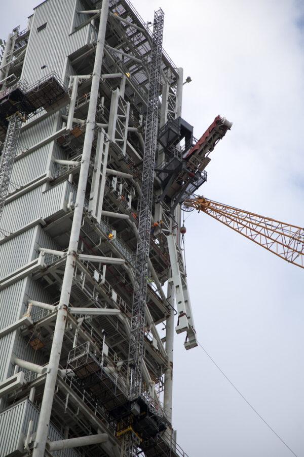 Montáž dílu nosné podkonstrukce, 25. května