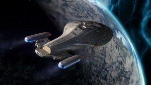 Charakteristickým prvkem lodí s warpovým pohonem ze seriálu Star Trek jsou dvě gondoly oddělené od trupu lodi.
