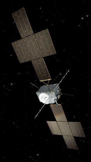 Vizualizace evropské sondy JUICE