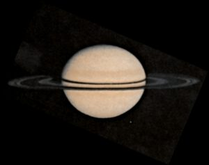 Saturn vyfocený Pioneerem 11.