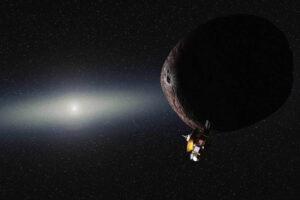 Představa průletu kolem 2014 MU69