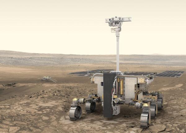 Vizualizace roveru z mise Exomars 2020