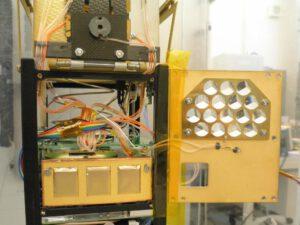 Detail zázemí materiálových experimentů