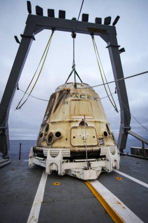 První opakovaně použitá loď Dragon po misi SpaceX CRS-11.