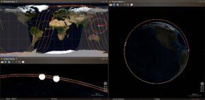 Porovnání oběžných drah družic Kosmos 2519, Objekt D a Kosmos 2486
