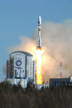 Premiérový start z kosmodromu Vostočnyj.