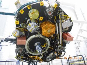 Přístrojová deska sondy InSight