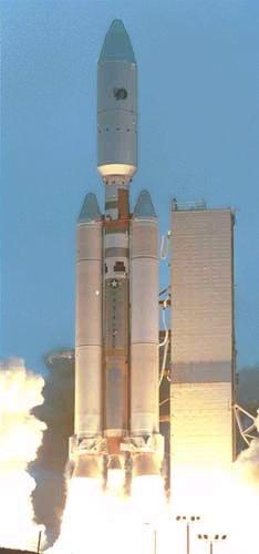 Titan IVB při startu