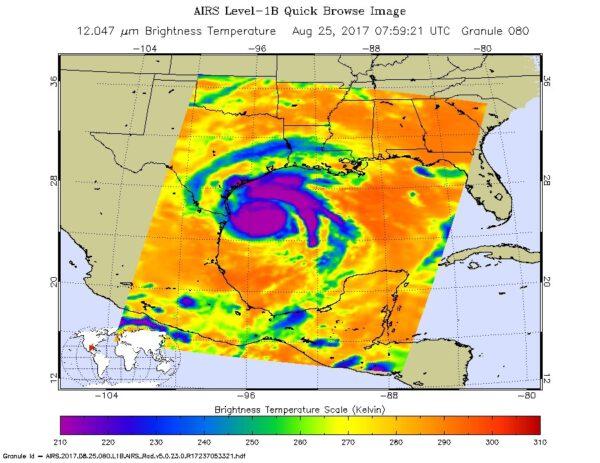 Oblasti bouří v hurikánu Harvey
