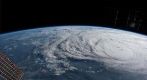 Harvey vyfotografovaný z ISS