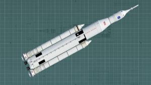 Původní návrh rakety SLS počítal s černobílými vzory.