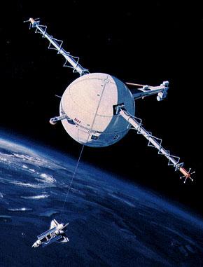 Experiment s odvíjením lana při experimentu TSS vypouštěném z raketoplánu
