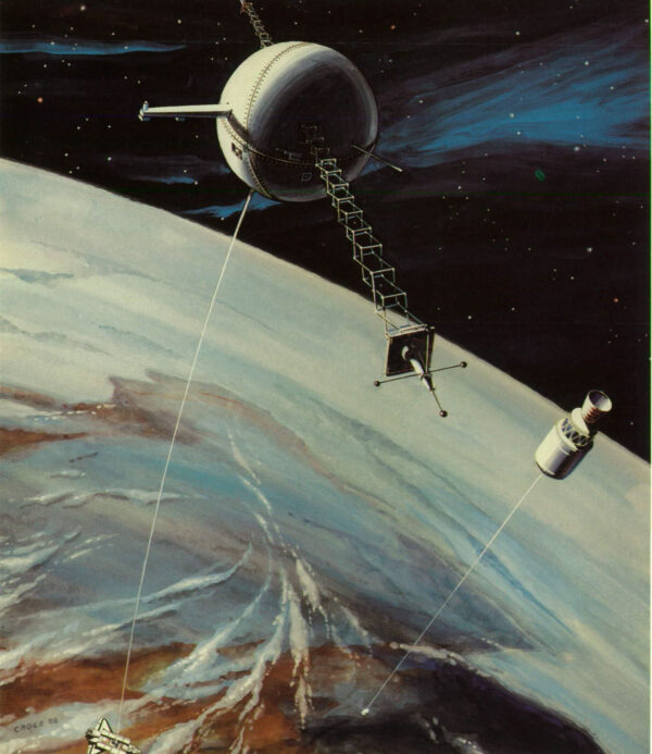 Zatím probíhají první testy využití dlouhých lan ve vesmíru