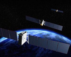 Vizualizace družic O3b mPower