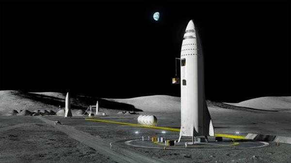 BFR na základně Moon Base Alpha