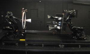 Laboratoř RPOD používá ke zkouškám senzorů a k nácvikům přibližování a spojování modely v životní velikosti.