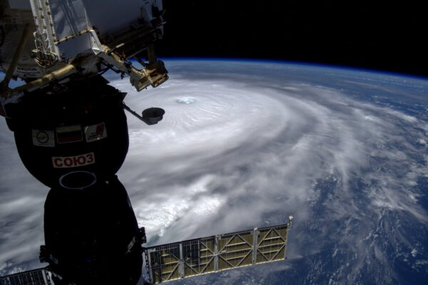Hurikán Irma z ISS 8. 9. 2017. Foto: NASA