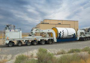 Přeprava pátého dokončeného palivového segmentu do skladu v Promontory, 5. září