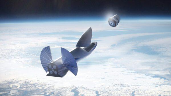 BFR od SpaceX vynáší satelit - ilustrace