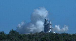 Statický zážeh Falconu 9 před misí KoreaSat 5A