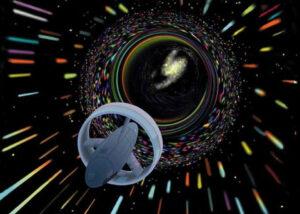 Umělecká představa, jak by mohl vypadat hvězdolet na warpový pohon Alcubierriho