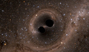 Dvojice černých děr spěje ke splynutí