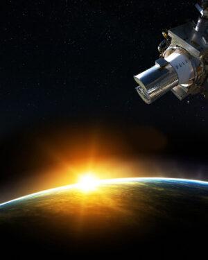 Plakát SAGE III na ISS.