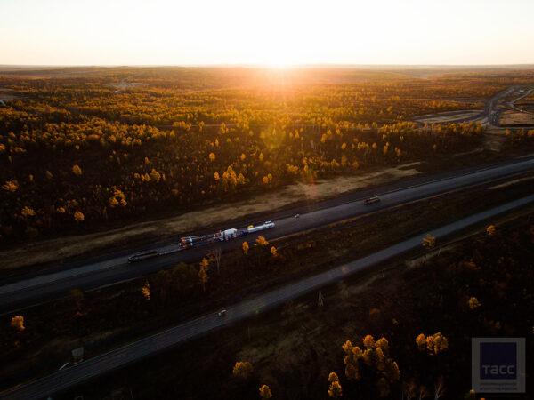 Svítání na Vostočném.