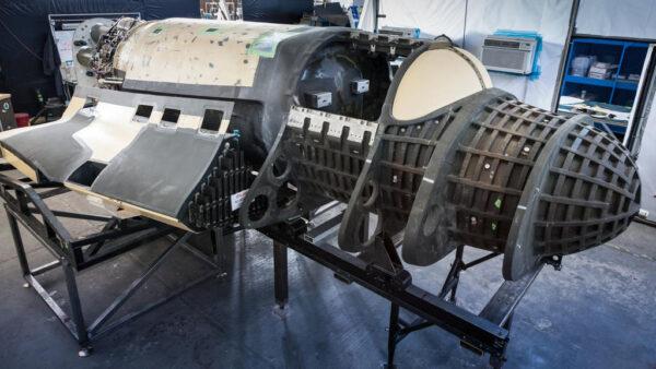 Rozestavěný raketoplán Lynx společnosti XCOR