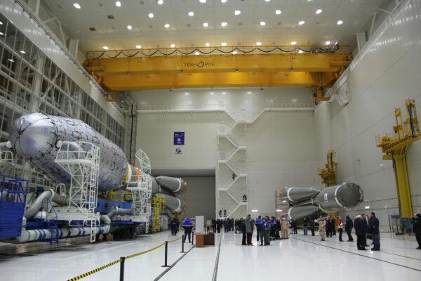 Montážní hala kosmodromu Vostočnyj.