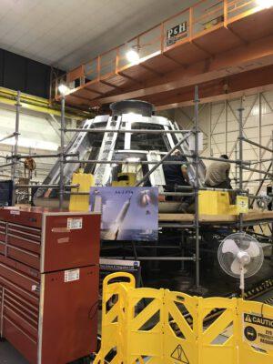 Testovací kabina Orionu pro AA-2 v Langley, říjen 2017