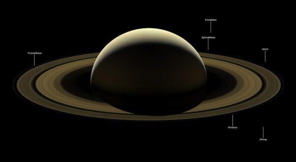 Saturn 13. 9. 2017. Foto: NASA/JPL-Caltech/Space Science Institute