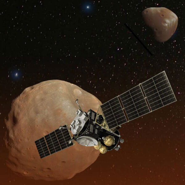 Vizualizace sondy Mars Moons eXploration (MMX)