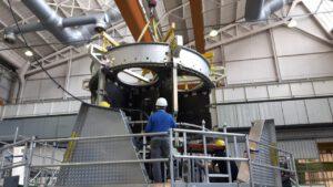 Výroba servisního modulu lodi Orion pro misi EM-2