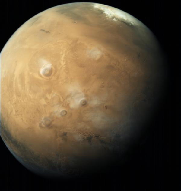Mars i s polární čepičkou