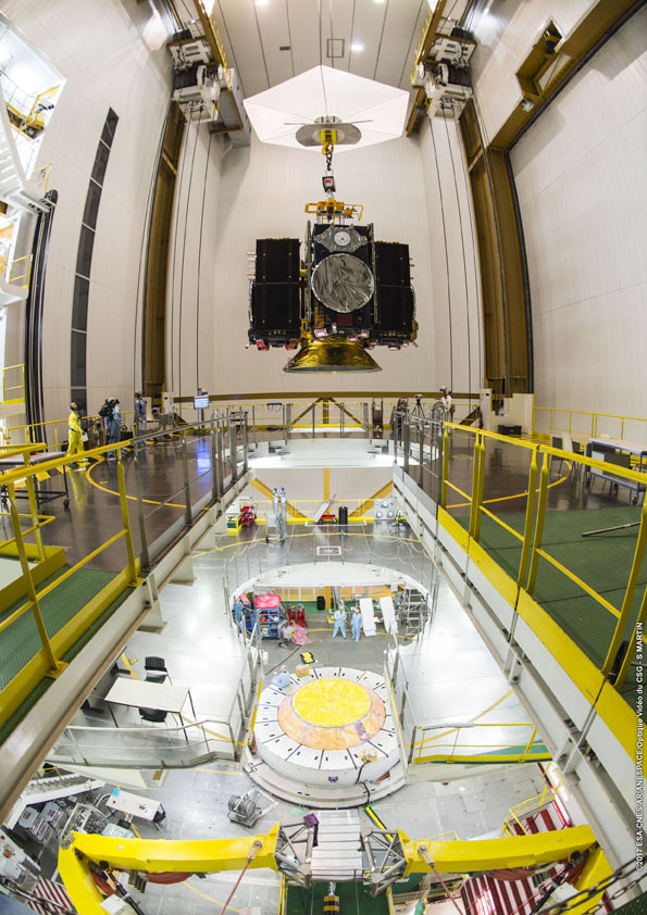 Čtveřice družic Galileo na adaptéru