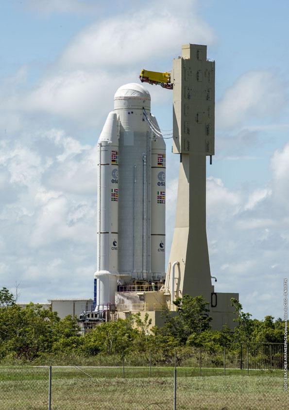 Přesun části rakety Ariane 5
