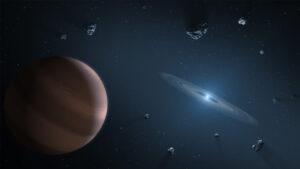 Umělecká představa exoplanetárního systému