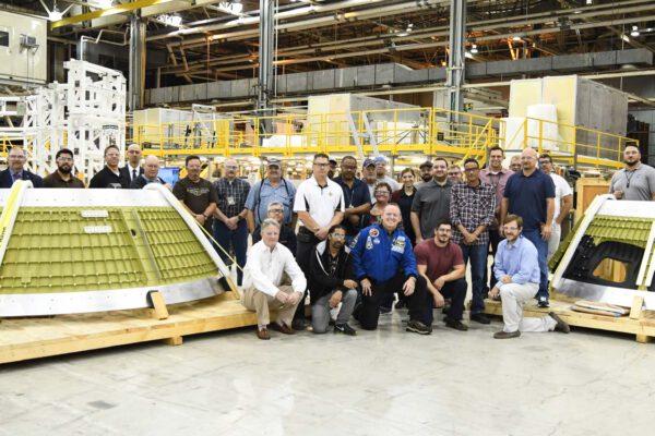 Vtovárně Michoud se již nachází všech sedm dílů kabiny Orionu pro EM-2. Minulý týden NASA avizovala zahájení svařování kabiny na prosinec 2017