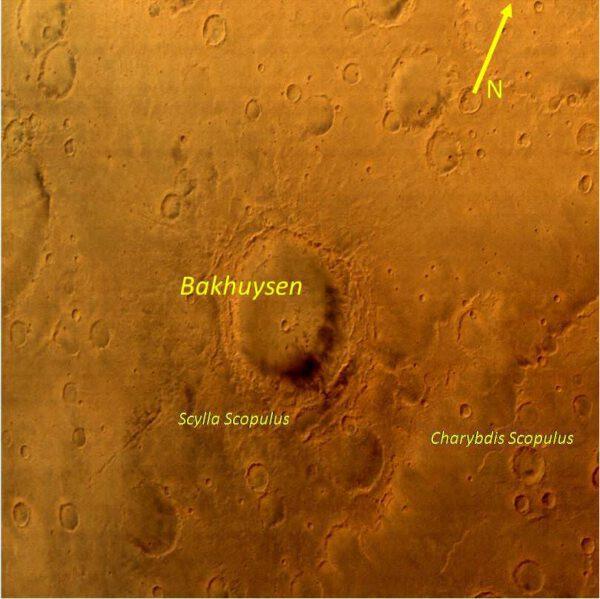 Detail povrchu Marsu