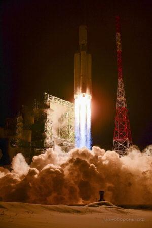 Dosud jediný let rakety Angara-A5