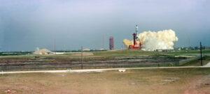 Krásný panoramatický záběr startu mise GT-3
